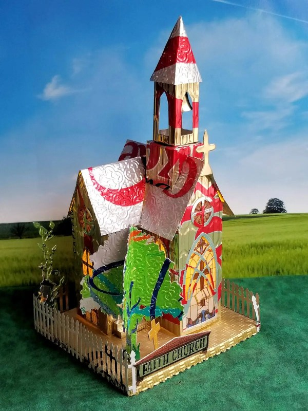 Village Church aluminum can house image 3 of 6