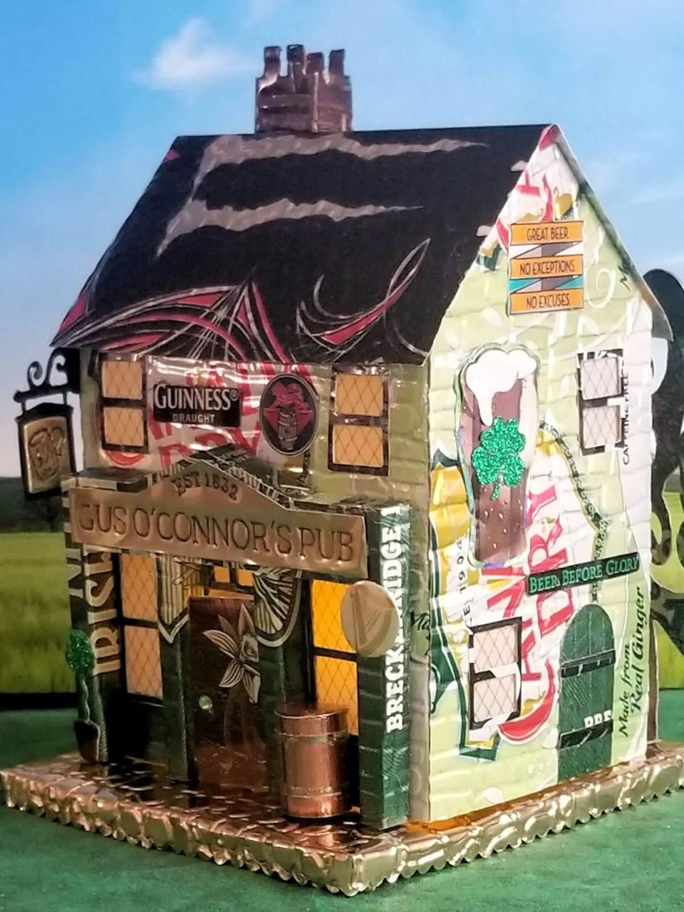 Village Pub #2 aluminum can house