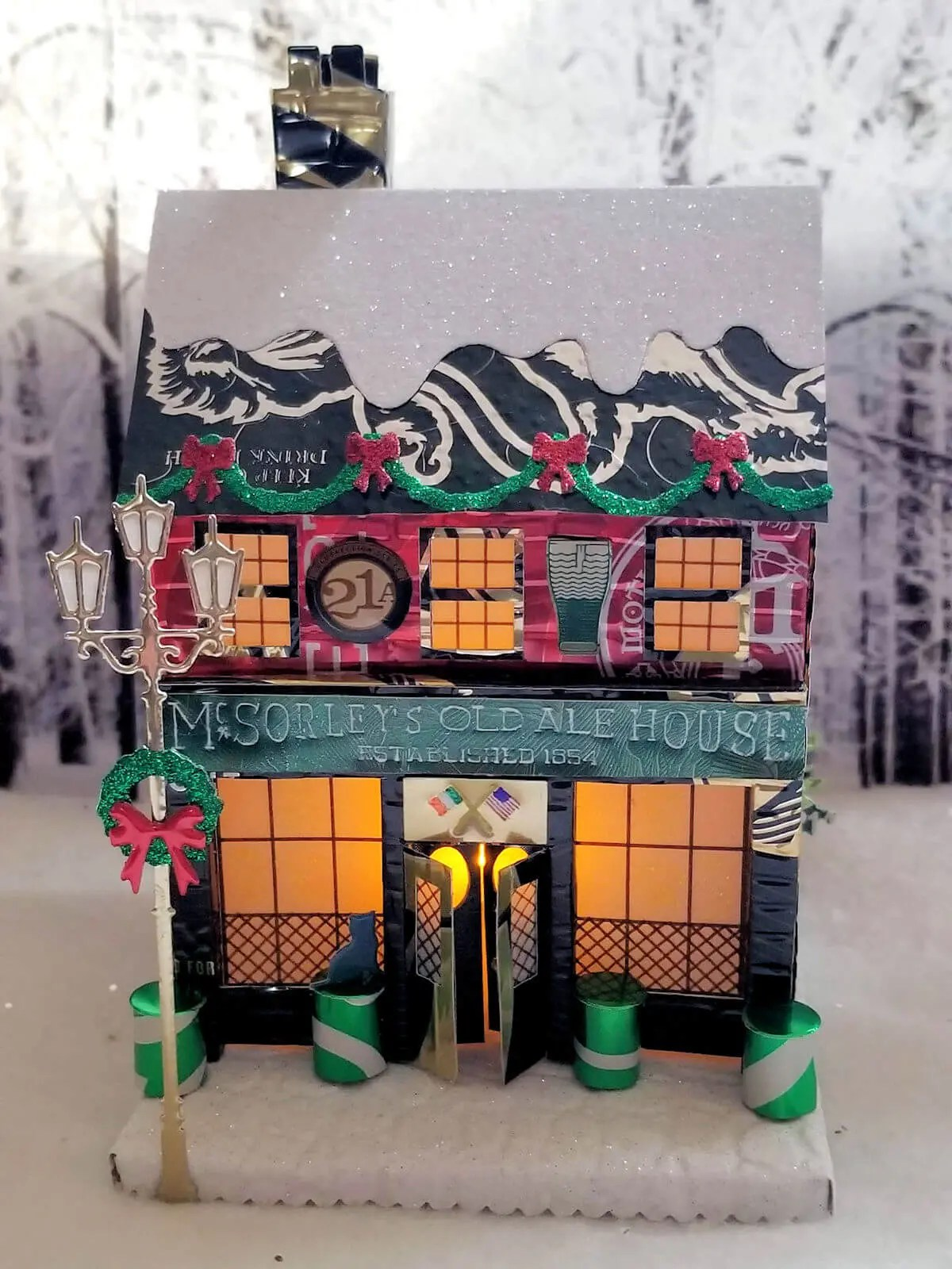Winter Village Pub #4 aluminum can house