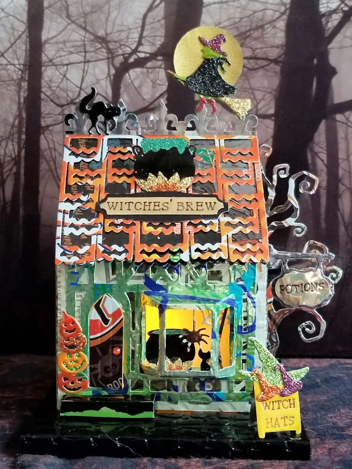 Witches Brew #1 aluminum can house