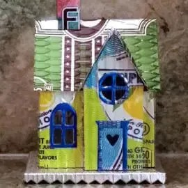 Country Cottage #1 aluminum can house