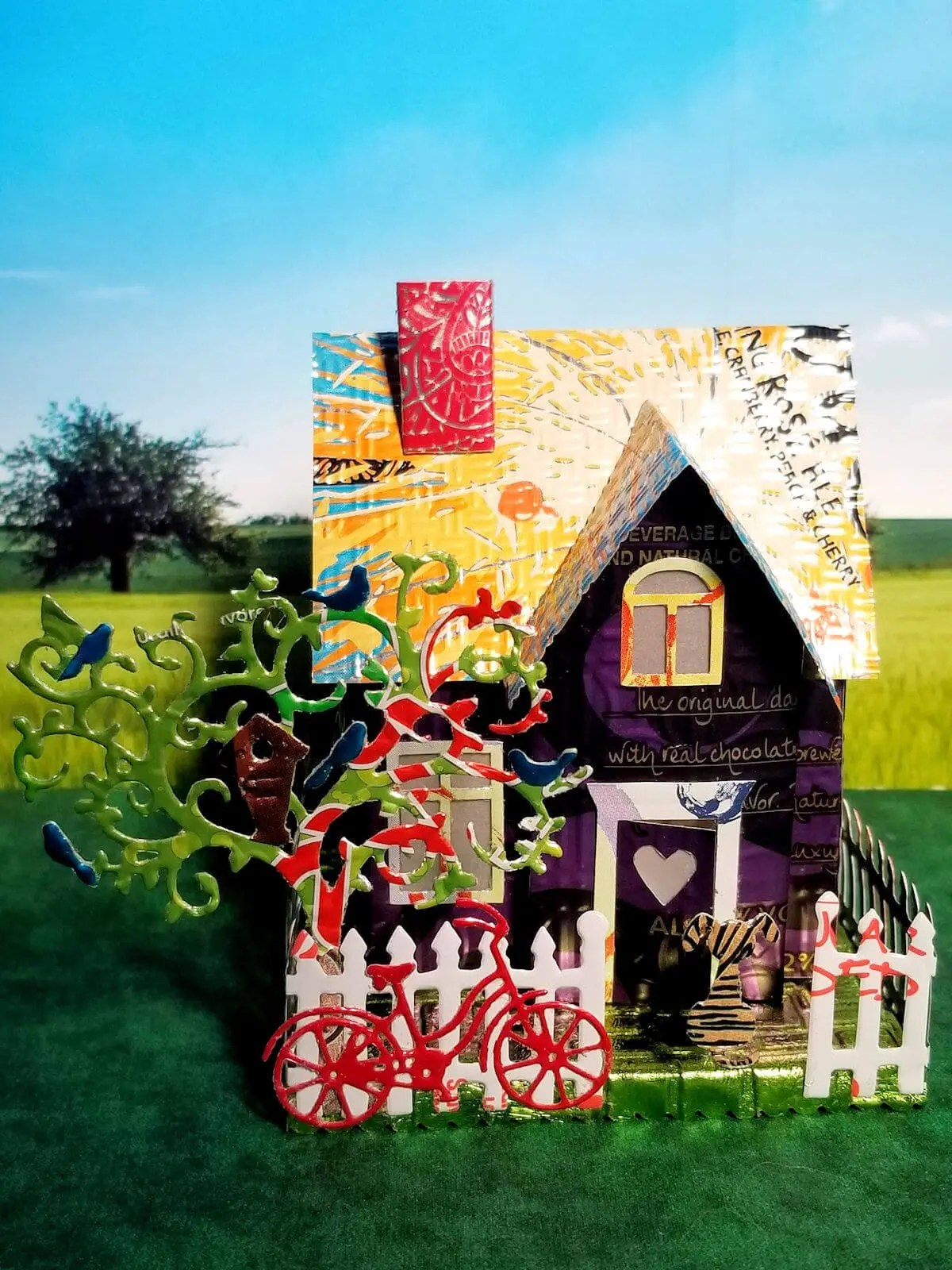 Country Cottage aluminum can house