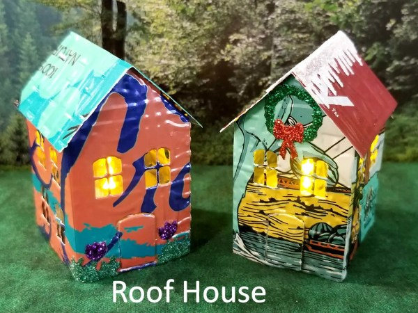 Tiny Roof House Lumanaries