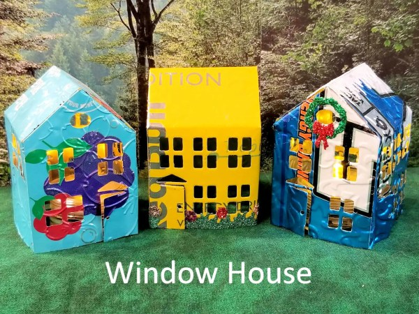 Tiny Window House Luminaries