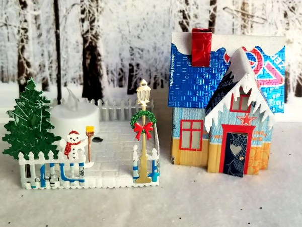 Winter Country Cottage aluminum can house image 6 of 6