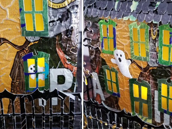 Spooky Halloween House aluminum can house image 5 of 9