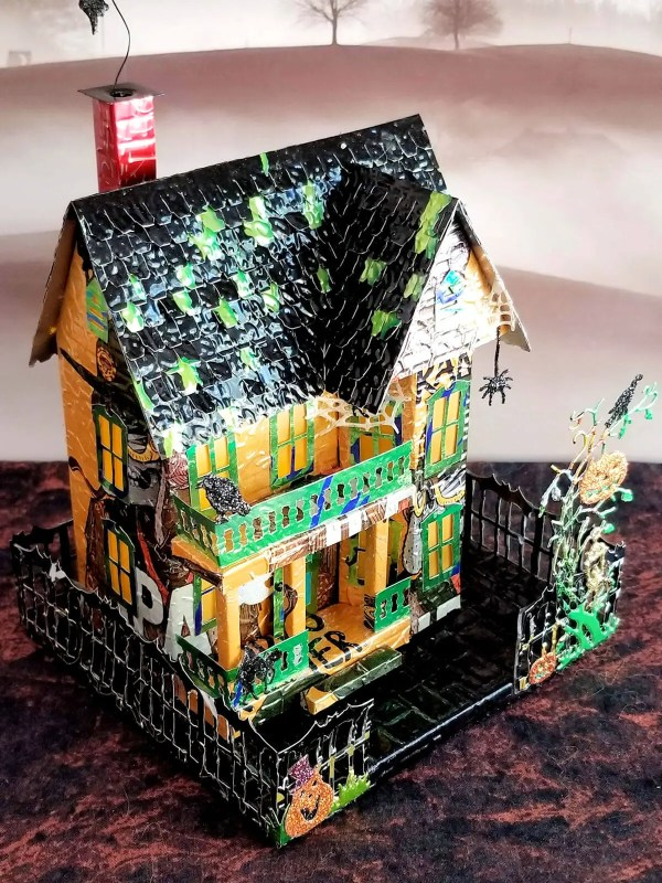 Spooky Halloween House aluminum can house image 3 of 9
