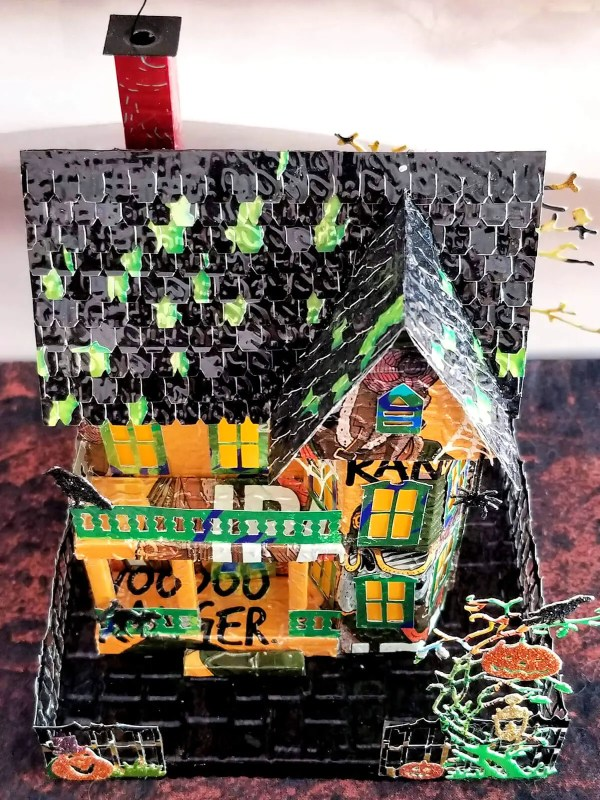 Spooky Halloween House aluminum can house image 8 of 9