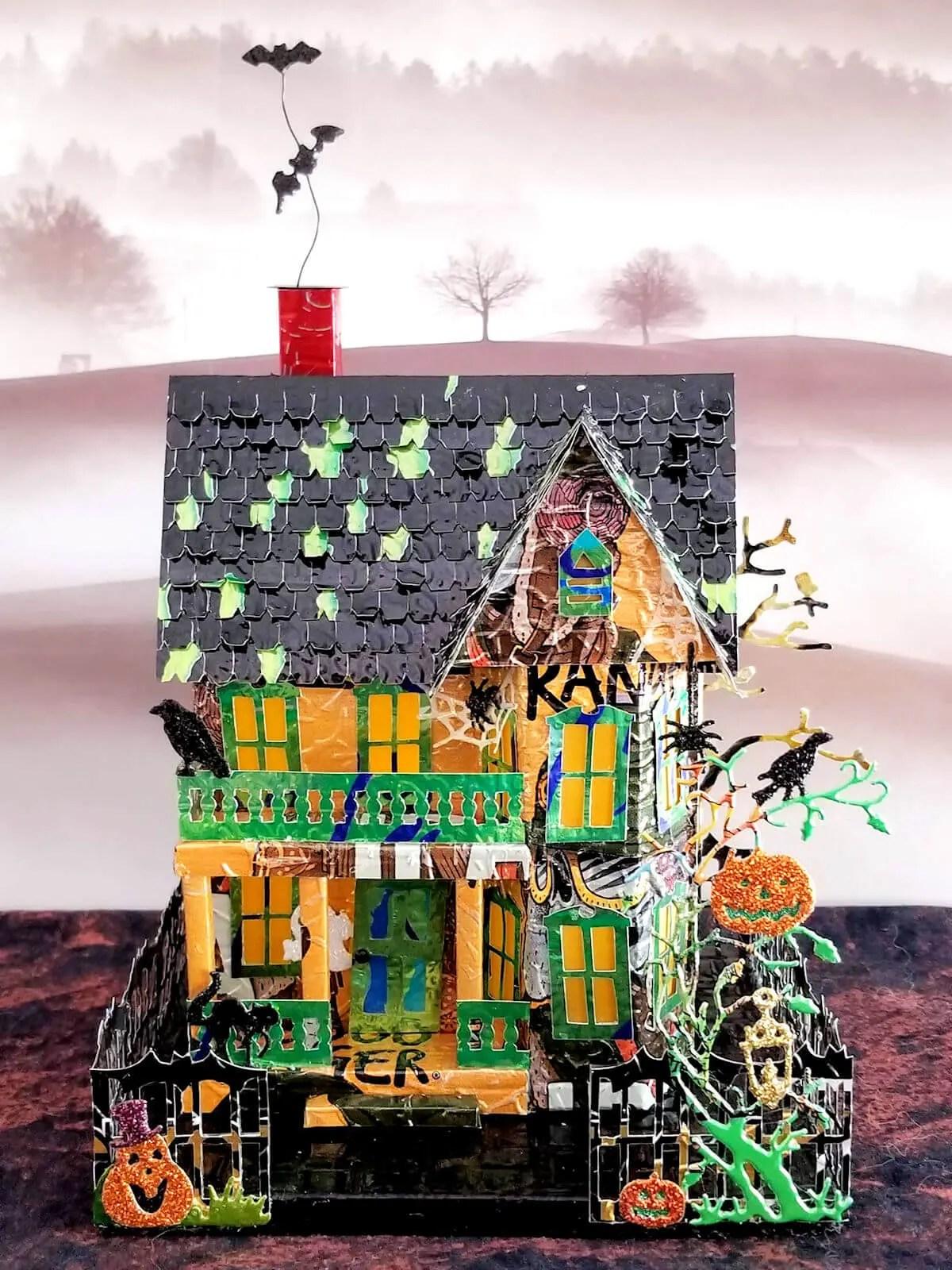 Spooky Halloween House #1 aluminum can house