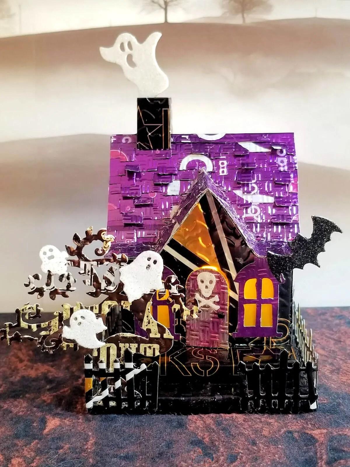 Halloween House #4 aluminum can house