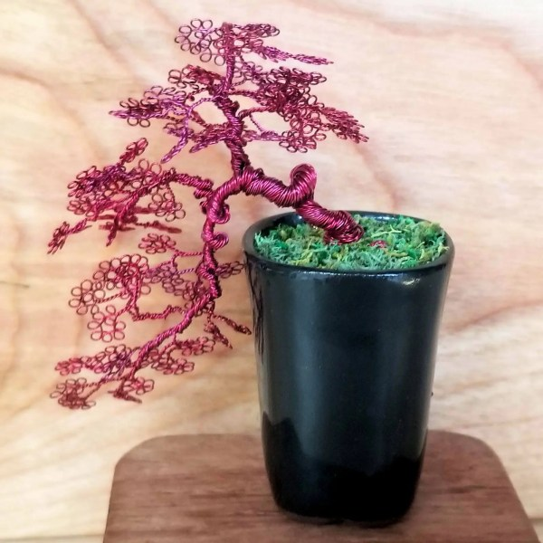 Kengai Miniature Wire Bonsai Tree
