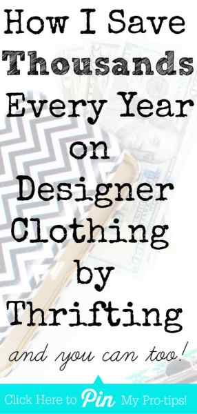 How I Save THOUSANDS Every Year on Designer Clothing by THRIFTING  (Thrifting Tips Inside!)