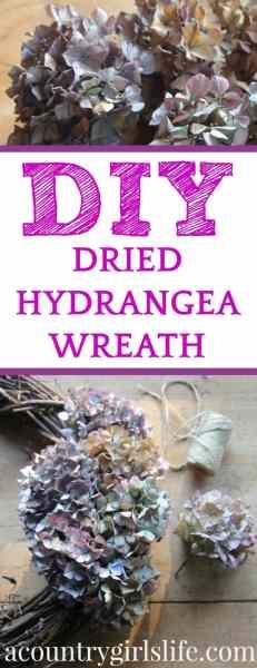DIY: How to Dry Hydrangeas for Crafting & Make a Dried Hydrangea Wreath