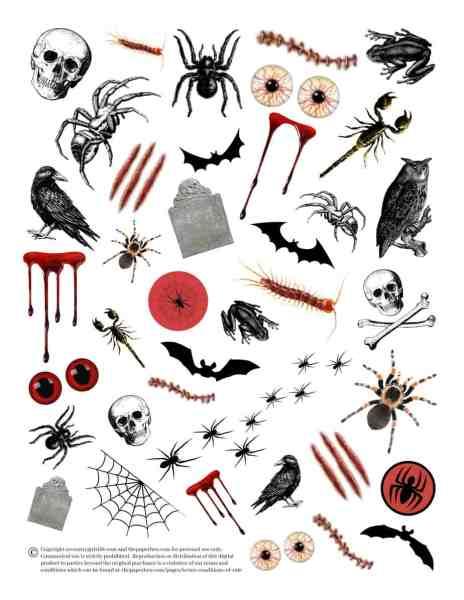 printable halloween tattoos