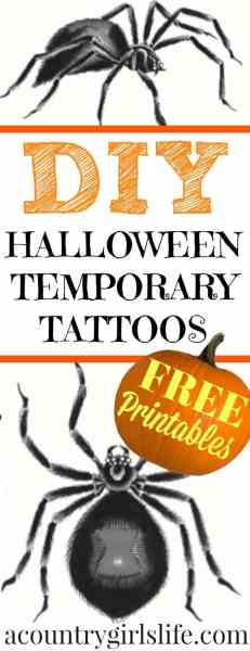 DIY: How to make Temporary Tattoos +Free Printables!