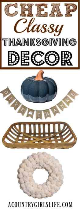 cheap thanksgiving decor