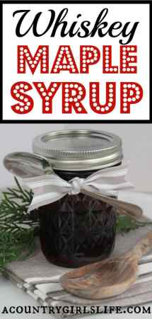 Whiskey Maple Syrup Recipe