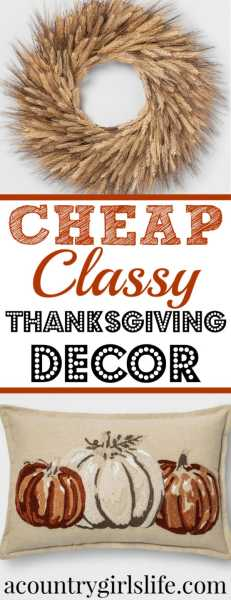 Budget Friendly Fall & Thanksgiving Home Decor