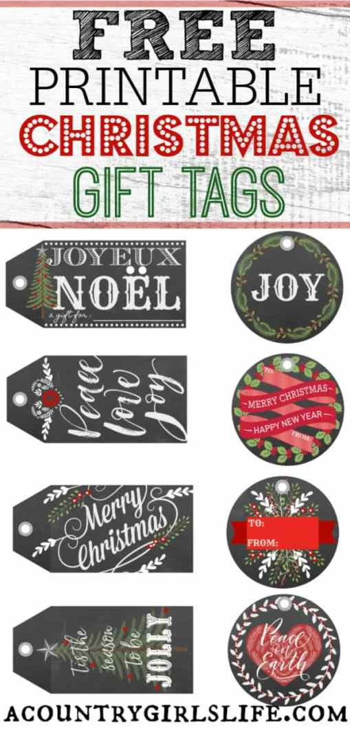 free christmas gift tag printables