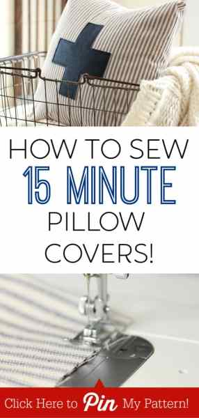 Easy DIY Envelope Pillow Cover From a Single Piece of Fabric!