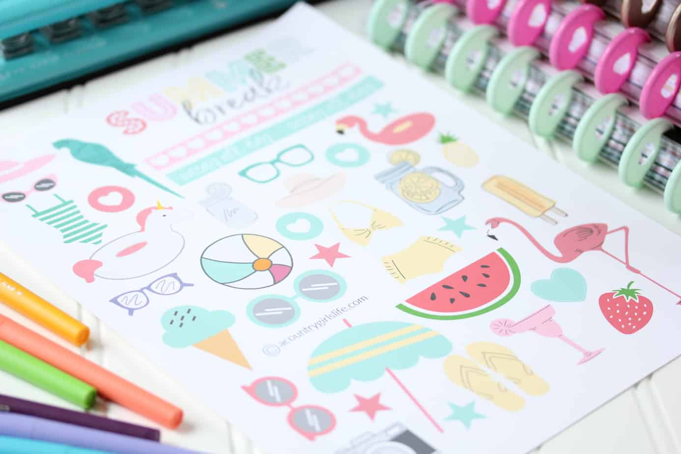 graphic relating to Free Happy Planner Printables referred to as Absolutely free Printable Planner Stickers for Your Content Planner - A