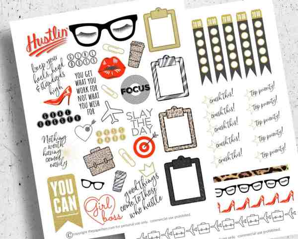free printable planner stickers