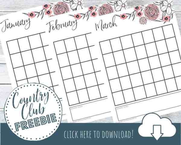Free Printable Monthly Calendar in Beautiful Florals!
