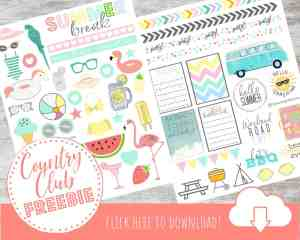 Free Printable Planner Stickers for Your Happy Planner