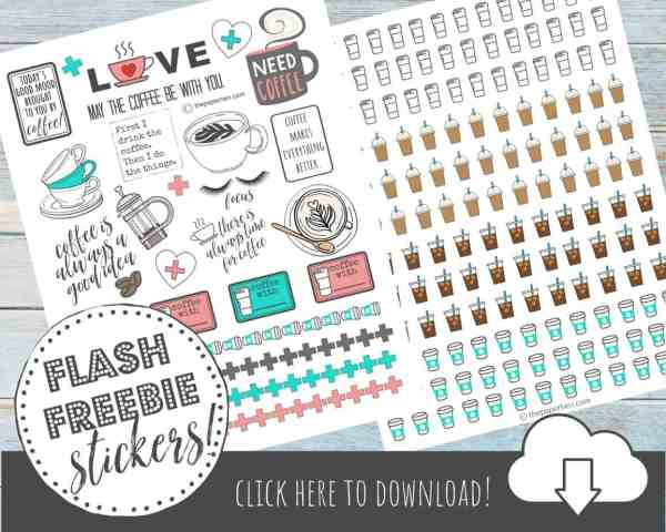 Free Printable Planner Stickers for Coffee Lovers!