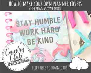 DIY Happy Planner Covers (+Free Printable Covers)