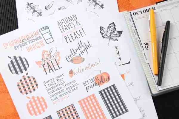 ree printable fall planner stickers|