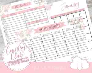 FREE Printable Daily Planner {+FREE Matching Monthly & Weekly Calendars}