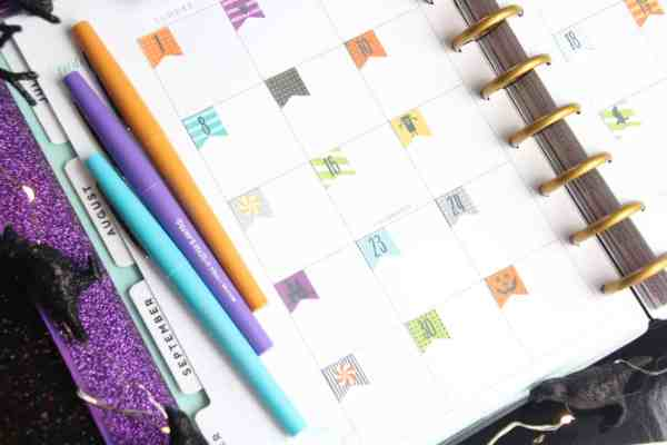free printable halloween stickers for planner decorating
