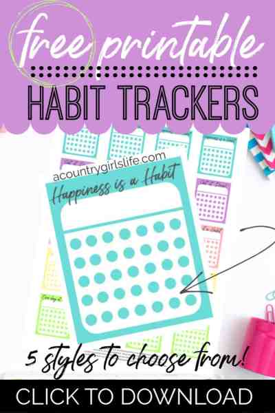 free printable monthly habit trackers