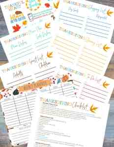 FREE Printable 7 Day Turkey Success Preparation Plan!