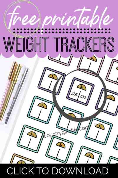 free printable weight planner stickers