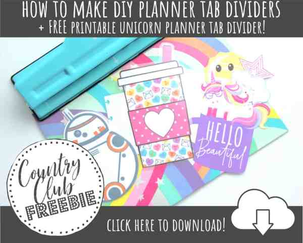 FREE Printable Planner Tab Dividers or Page Markers to Get Organized in Style!