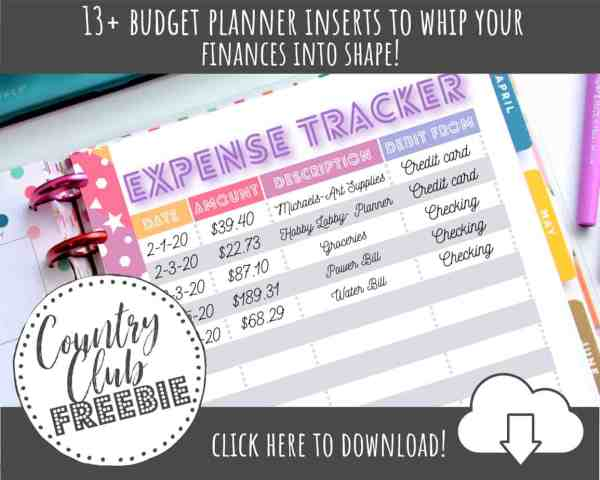 13 FREE Happy Planner Budget Printables to Whip Your Finances into Shape!