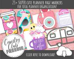 23+ FREE Printable Planner Page Markers for TOTAL Planner Organization!