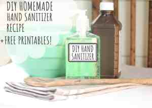 How to Make Homemade DIY Hand Sanitizer Gel +FREE PRINTABLE LABELS & RECIPE CARD!