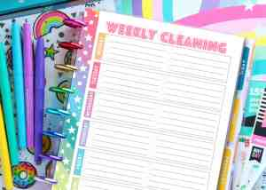 FREE Printable Planner Cleaning Schedule + 5 Cleaning FREEBIES You Need Now!