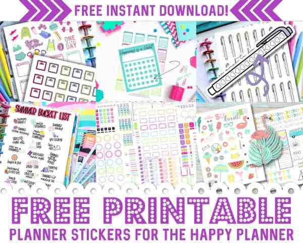 1000+ FREE Printable Planner Stickers for Your Happy Planner!