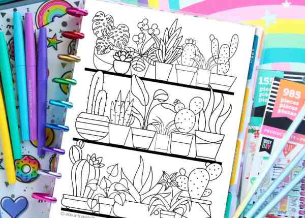 free printable habit tracker coloring pages for goal setting