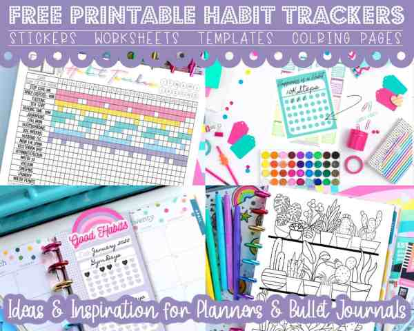 free printable planner inserts pages for any size planner