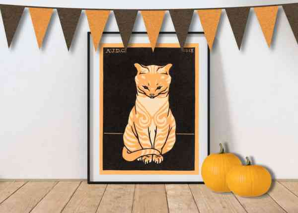 free printable halloween wall art and decorations for making diy halloween decor and vintage decorations
