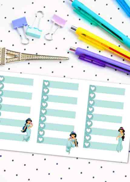free printable disney princess planner stickers for the happy planner