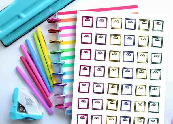 free printable planner stickers for health fitness and weightloss