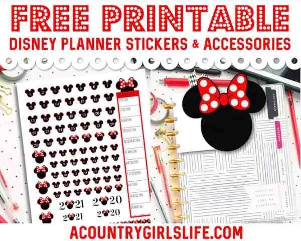 FREE Printable Disney Planner Stickers + {CUTE} Tabs & Accessories