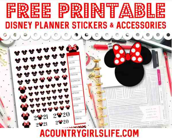 free printable disney planner stickers planner tabs die cuts and accessories for the Happy Planner