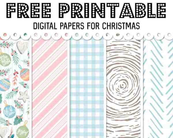 free printable digital paper for christmas holidays